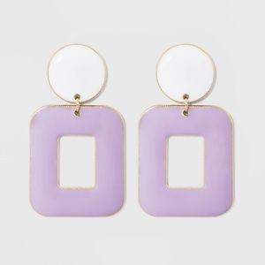 NWT Sugarfix Baublebar enamel drop earrings lilac